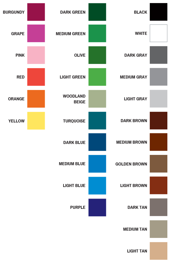 McMillan Stock Color Chips